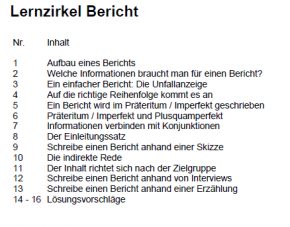 Lernzirkel Bericht